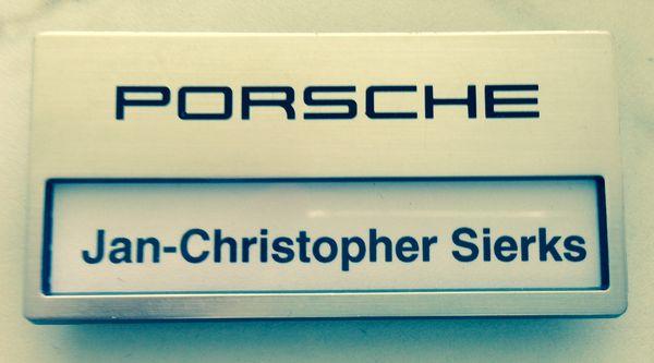 Porsche Namensschild