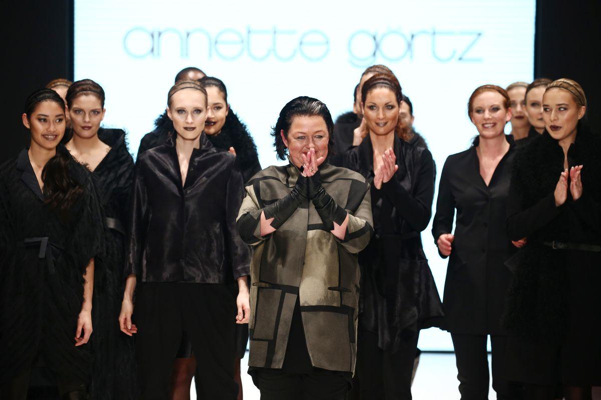 Annette Görtz mit Models