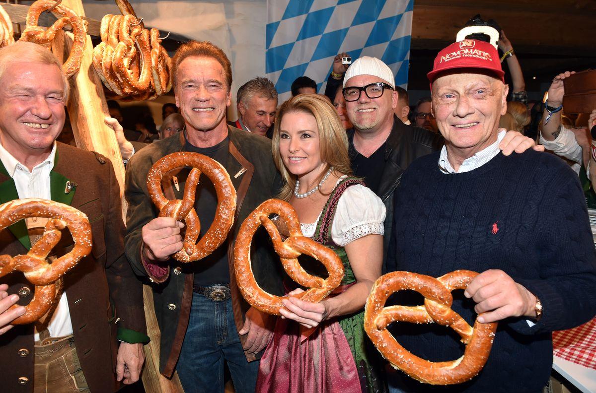 Balthasar Hauser, Arnold Schwarzenegger, Heather Milligan, DJ Ötzi, Niki Lauda