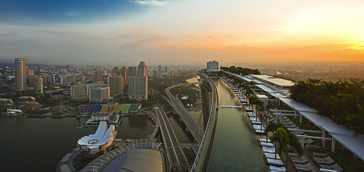 Marina Bay Sands: Sonnenuntergang
