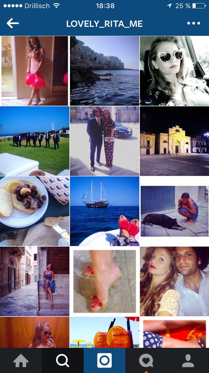 Rita Faltoyano bei Instagram: @lovely_rita_me