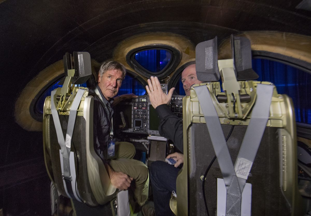 Harrison Ford und Virgin Galactic Pilot Dave Mackay