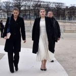 Barbara Berlusconi besucht Valentino Show