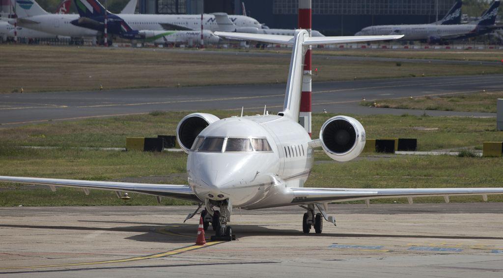Privatjet am Airport