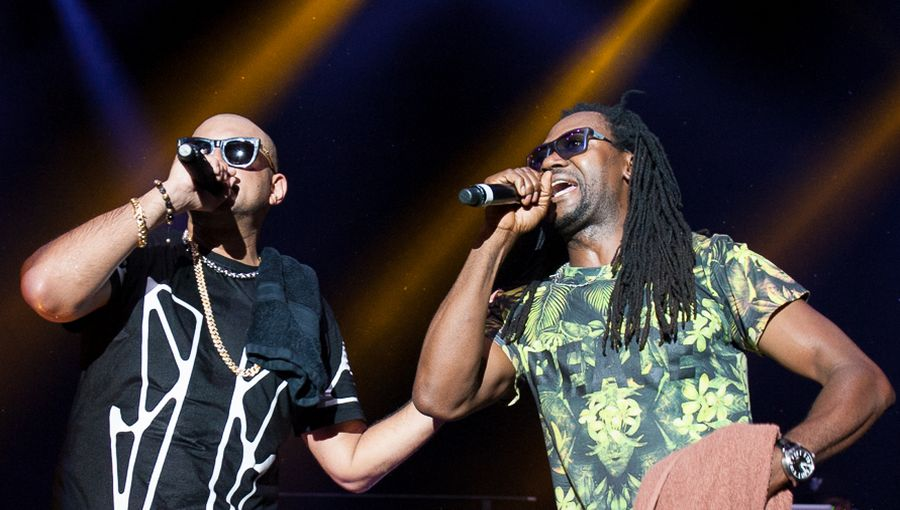 On Stage: Toni Tuklan mit Sean Paul