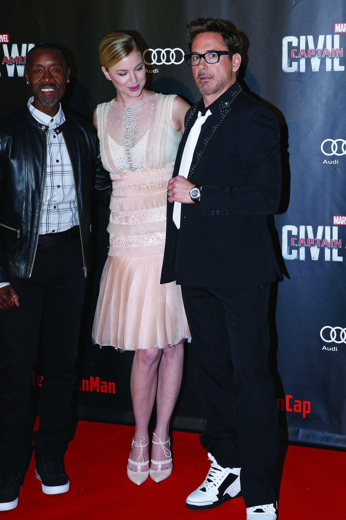 Don Cheadle, Emily VanCamp, Robert Downey Jr.