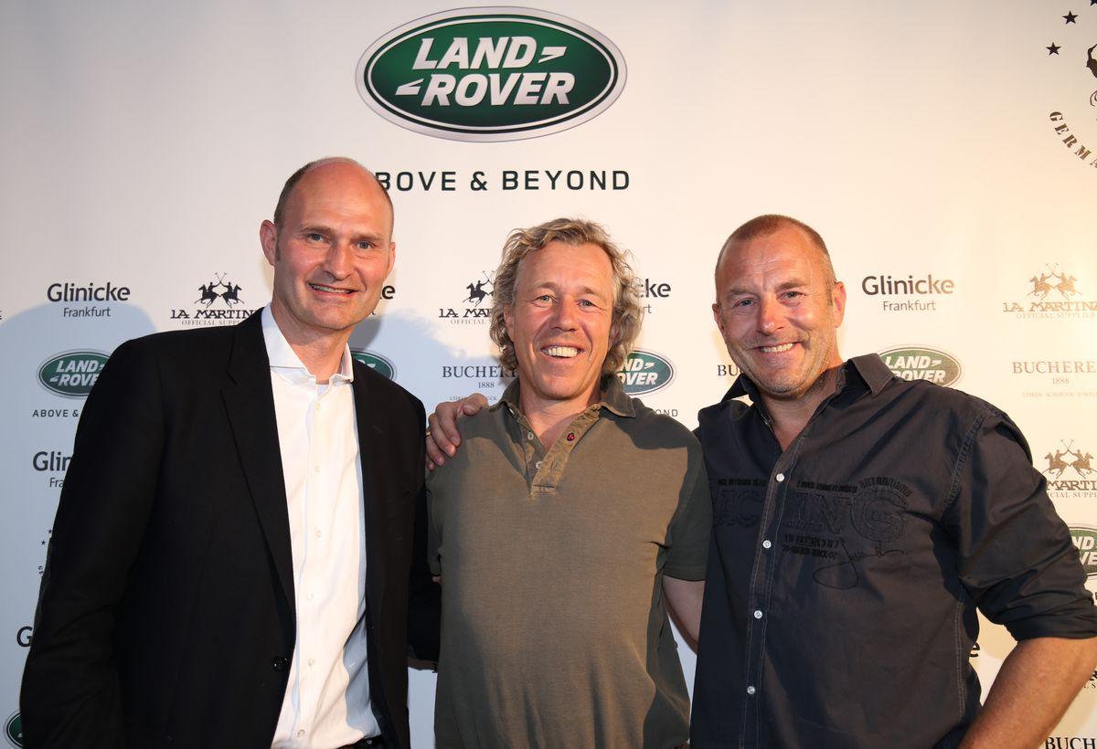 Christian Uhrig (Jaguar Land Rover), Christopher Kirsch (Veranstalter), Heino Ferch (Schauspieler)