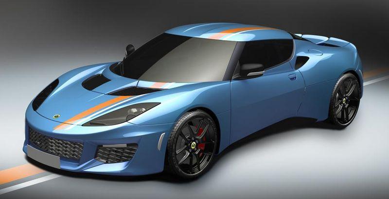 Lotus Evora 400, Blau Orange
