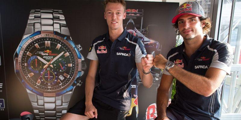 Sportliche Uhr von Casio und Scuderia Toro Rosso