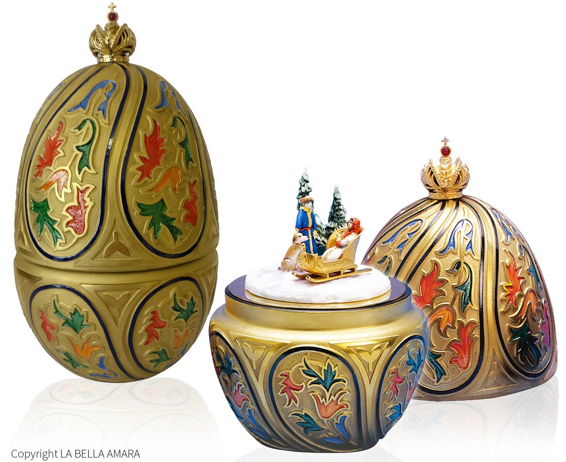 Theo Fabergé, Russian Winter Egg, St. Petersburg Collection