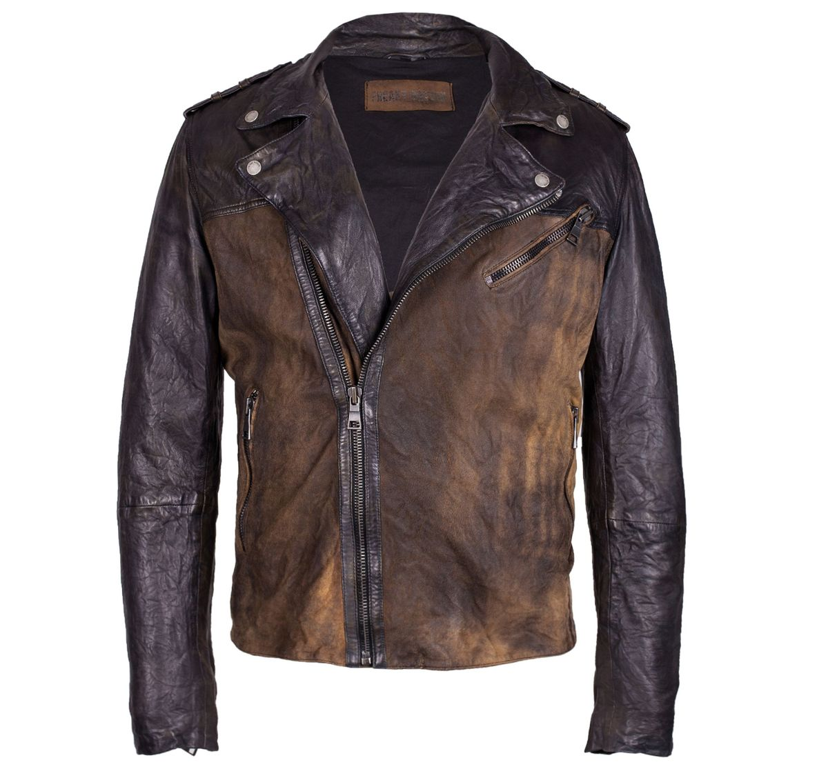 Freaky Nation, Herren Lederjacke, Gold Rush