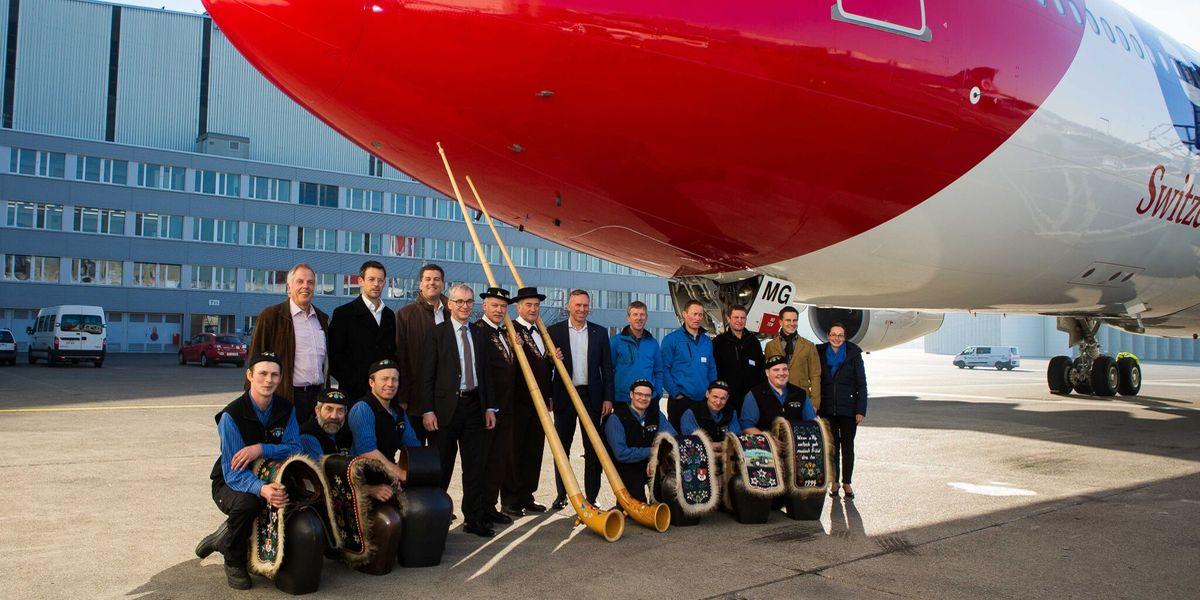 Schweizer Gastfreundschaft: Edelweiss tauft A340