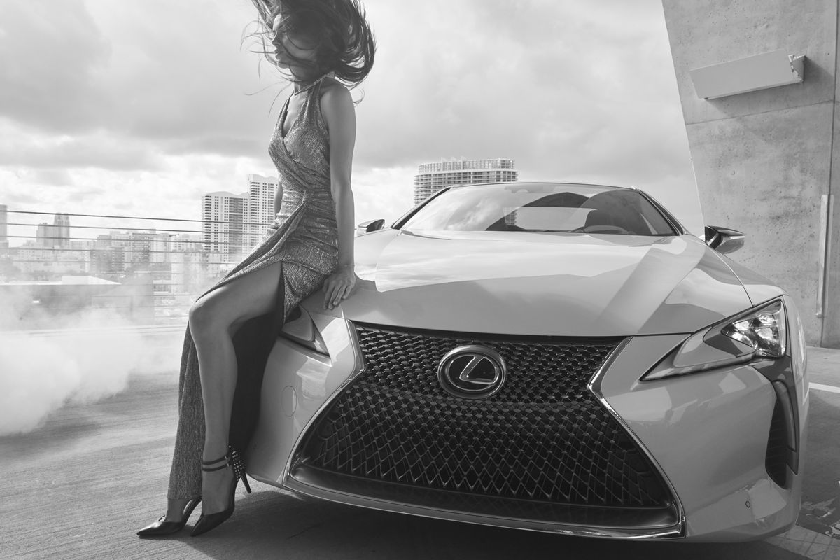 Girl meets Car, Through The Lens, Lexus LC 500