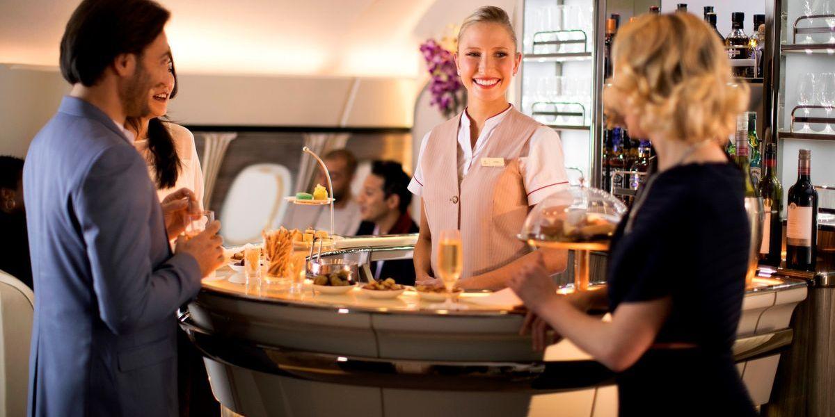Emirates: A380 glänzt mit neuer Bord-Lounge