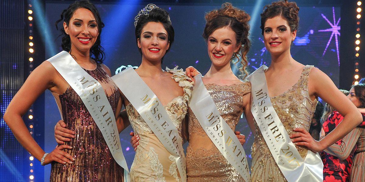 Wiam Bentaja (Miss Air Schweiz 2017), Sarah Laura Peyrel (Miss Earth Schweiz 2017), Ariana Birrer (Miss Water Schweiz 2017), Cléa Formaz (Miss Fire Schweiz 2017)