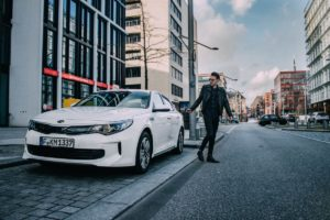 Marcel von Lipp, Kia Optima Plug-In Hybrid by Björn Hellgardt