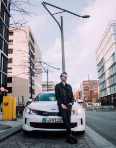 Marcel von Lipp, Kia Optima Plug-In Hybrid by Björn Hellgardt