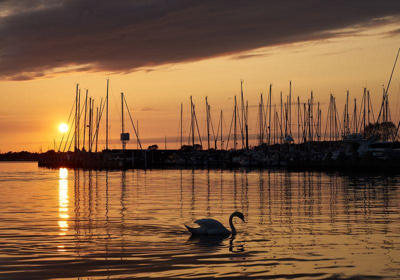 Sonnenuntergang Großenbrode, Ostsee