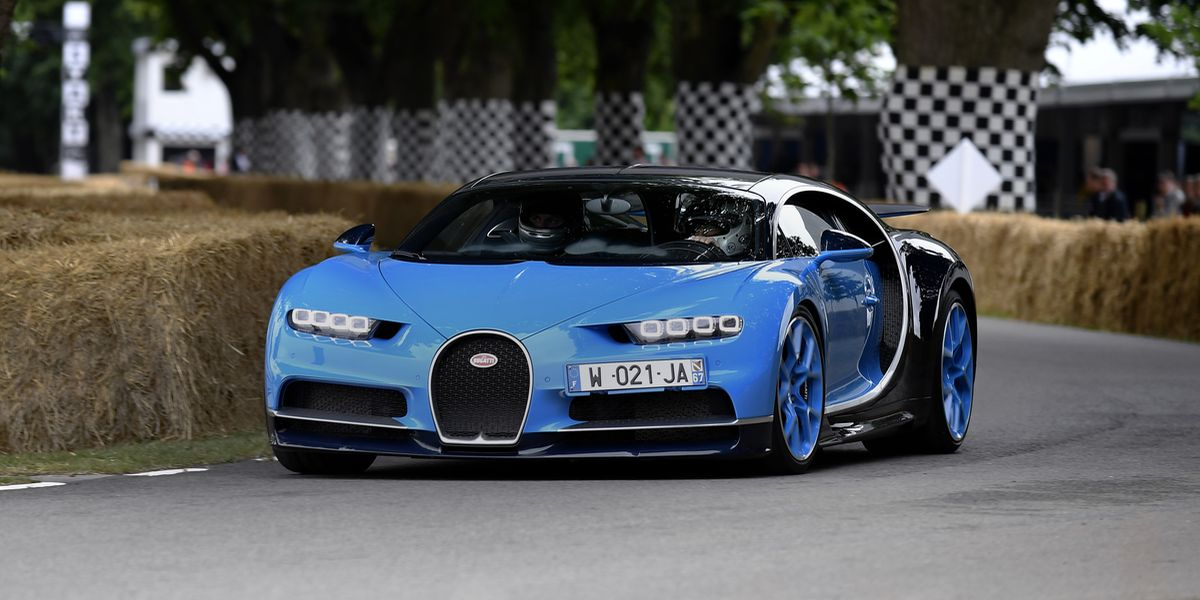 Bugatti heizt in Goodwood