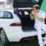 Andy Murray: Wimbledon-Trophäe im Jaguar XF Sportbrake