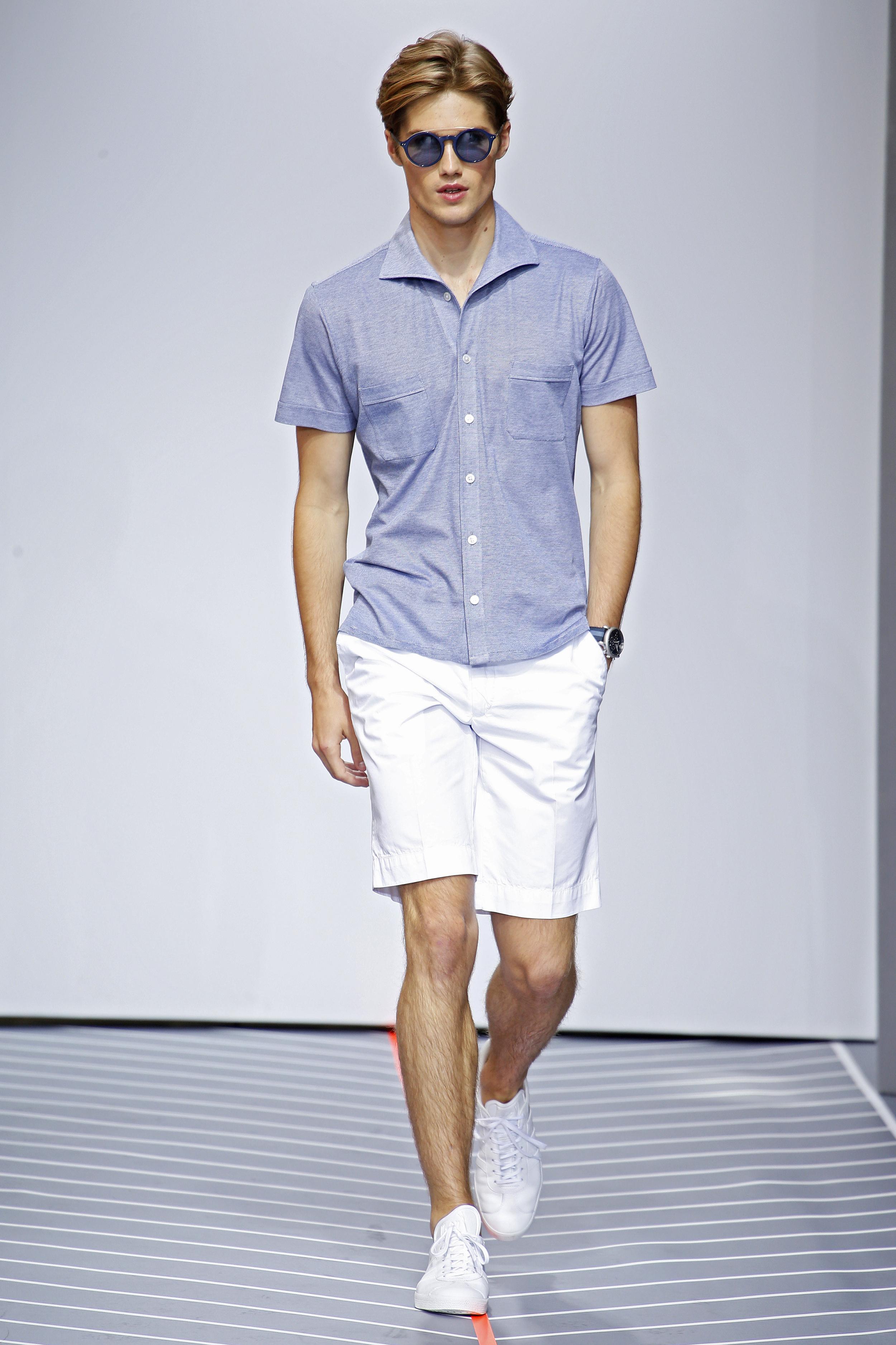 London Men's Fashion Week Spring/Summer: St James's zeigt weiße Shorts