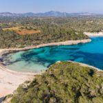Playa S'Amarador, Mallorca mit der Drohne