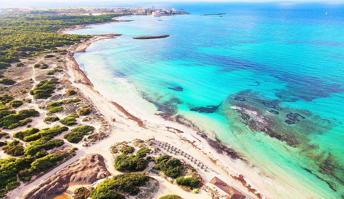 Platja es Trenc, Mallorca mit der Drohne