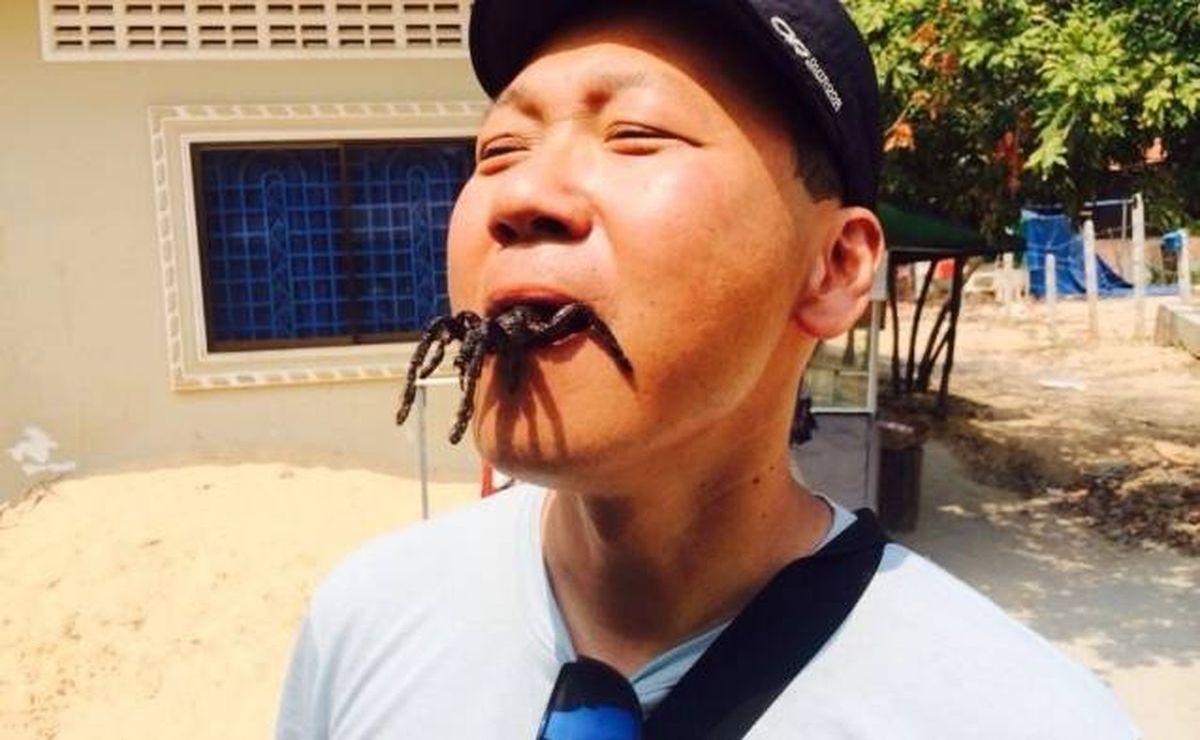 Frittierte Insekten in Siem Reap