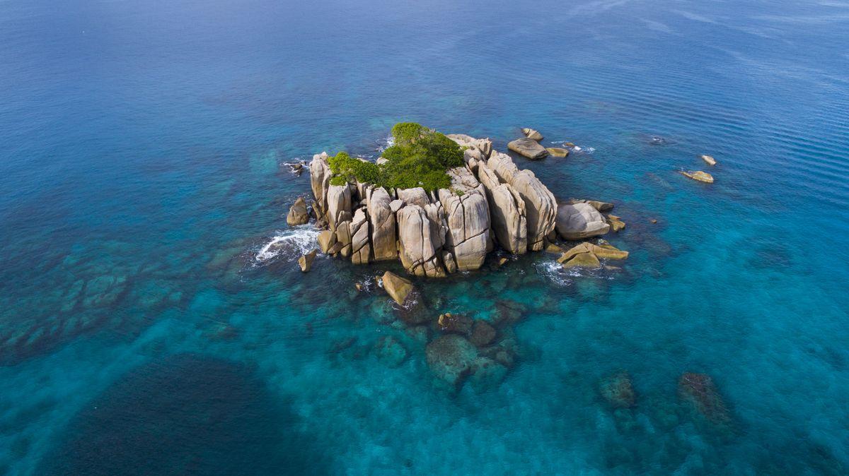 Insel ohne Namen – Exemplarisch für zahlreiche weitere kleine Eilande