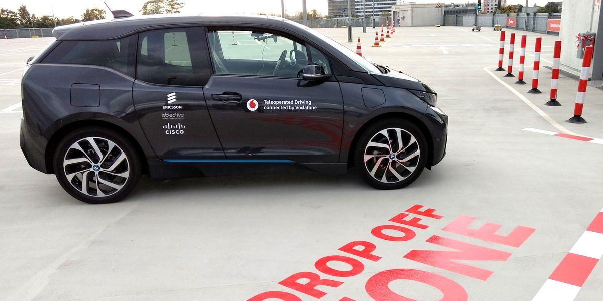 Ferngesteuertes Fahren bei den Vodafone Innovation Days 2017