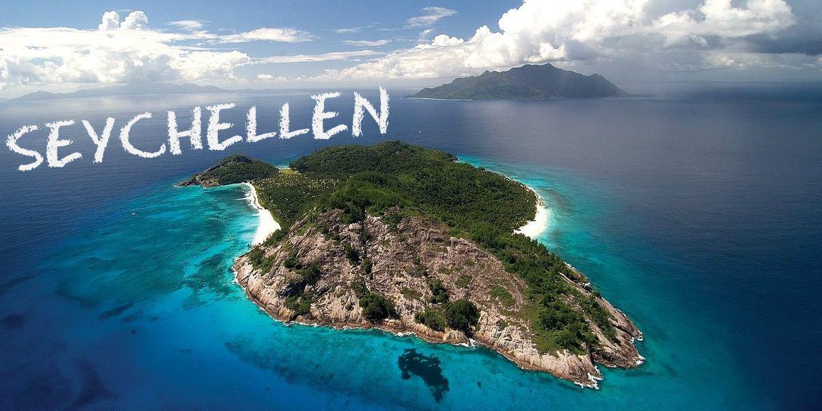 Mit der Drohne über den Seychellen