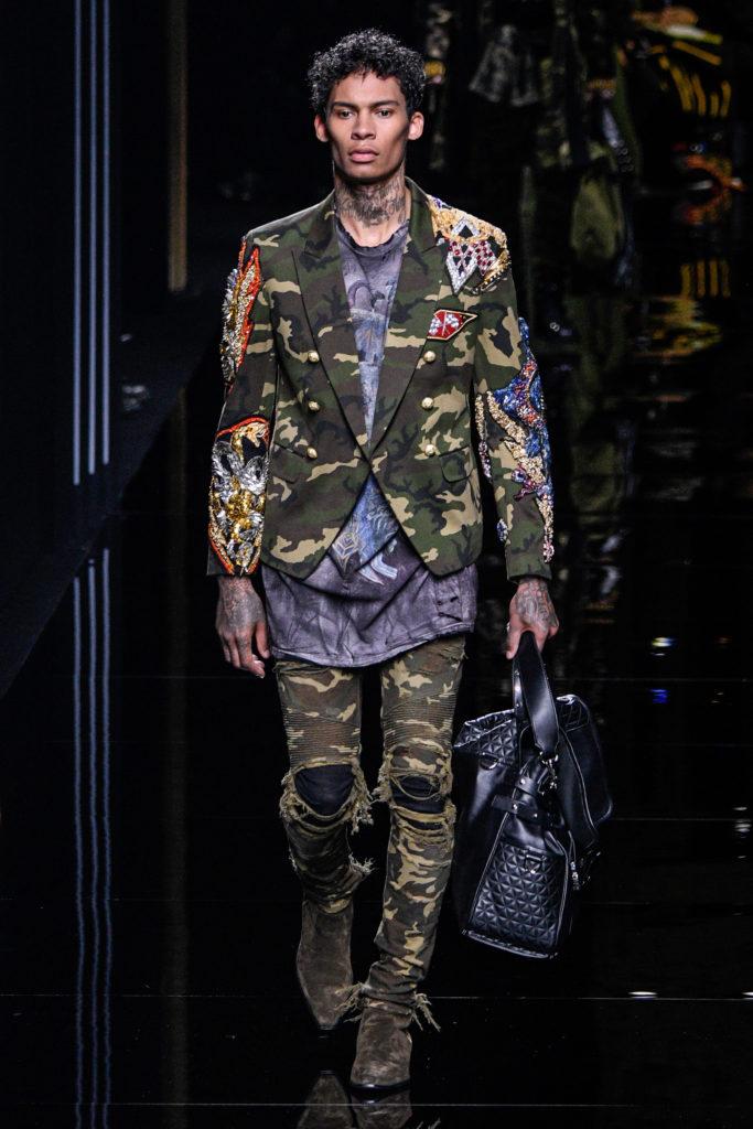 Army-Look bei der Paris-Show von Balmain