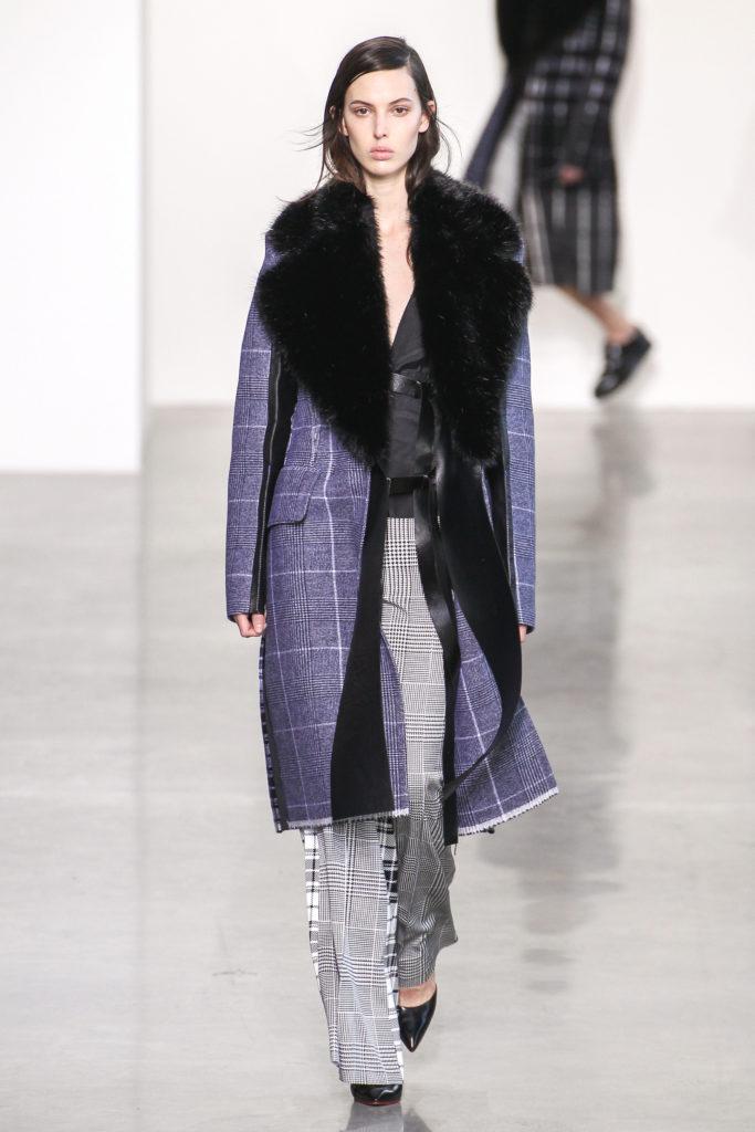 Mantel in Karo-Muster bei Calvin Klein