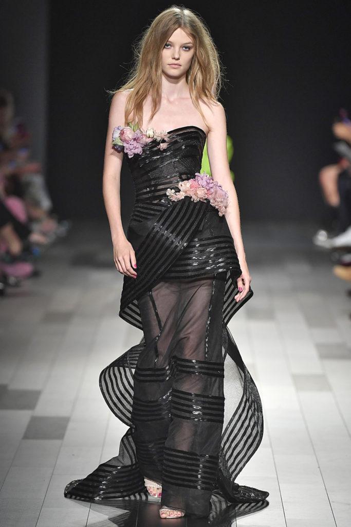 New York Fashion Week Spring/Summer 2018: Transparente Röcke bei Marchesa