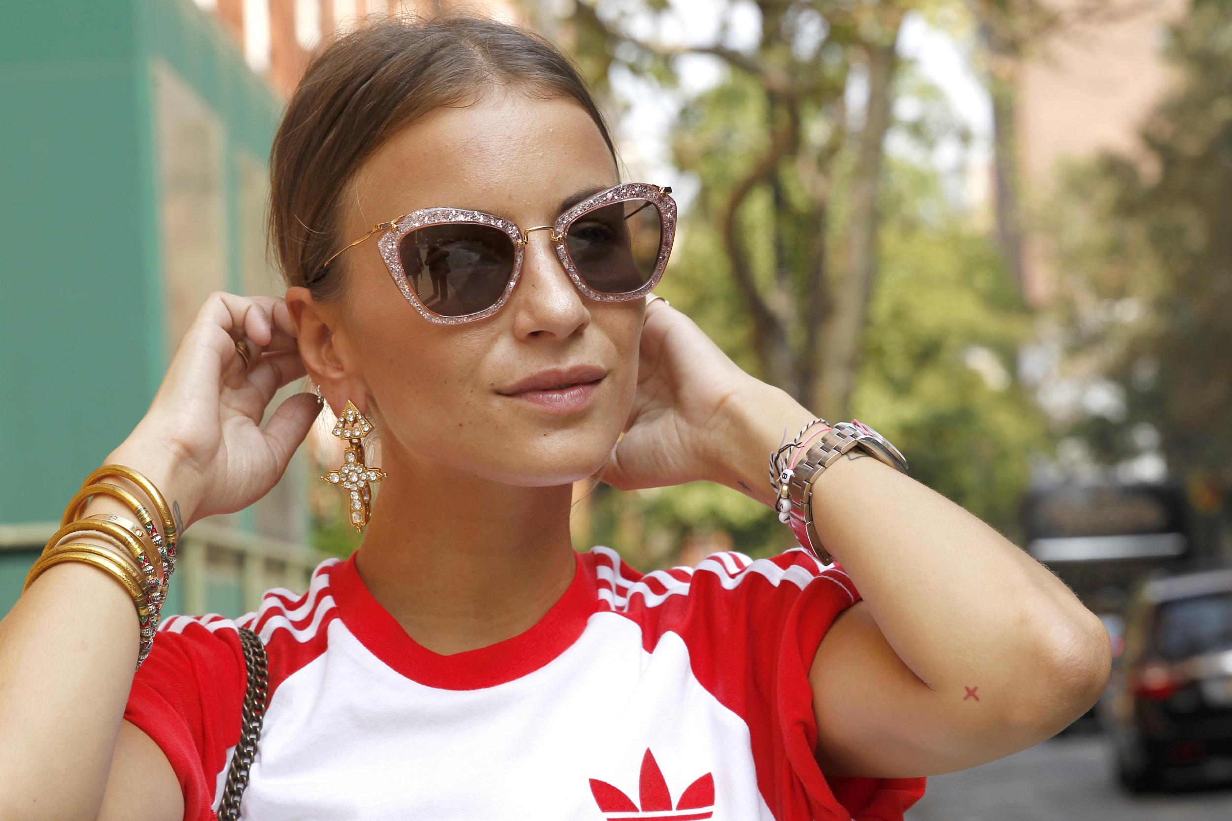 Statement-Ohrringe im Street Style aus New York