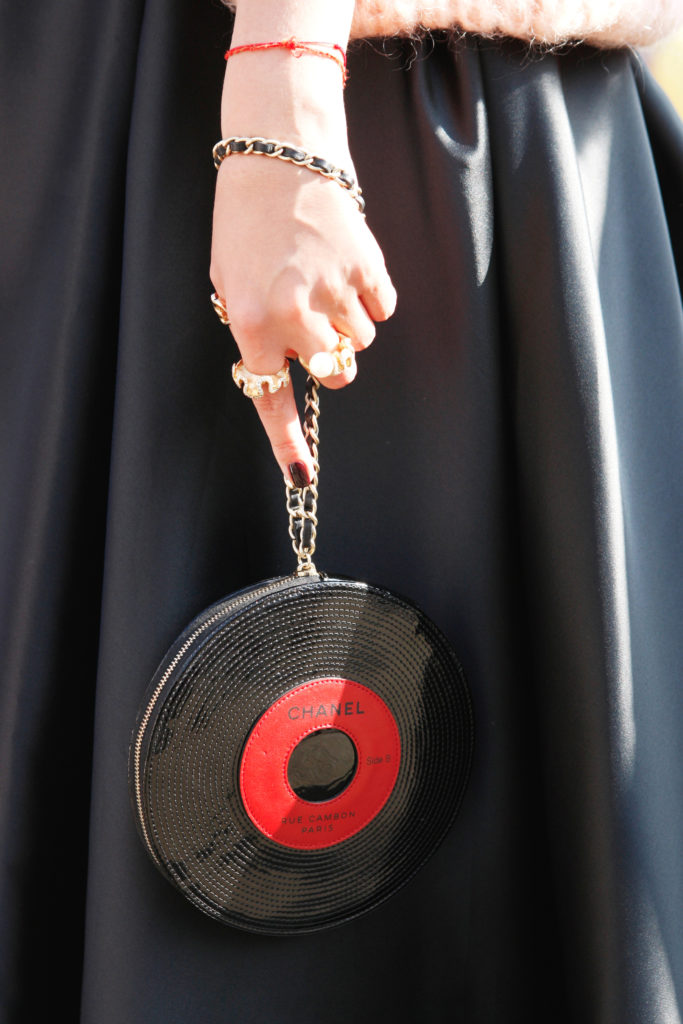 Chanel Record Wristlet Bag