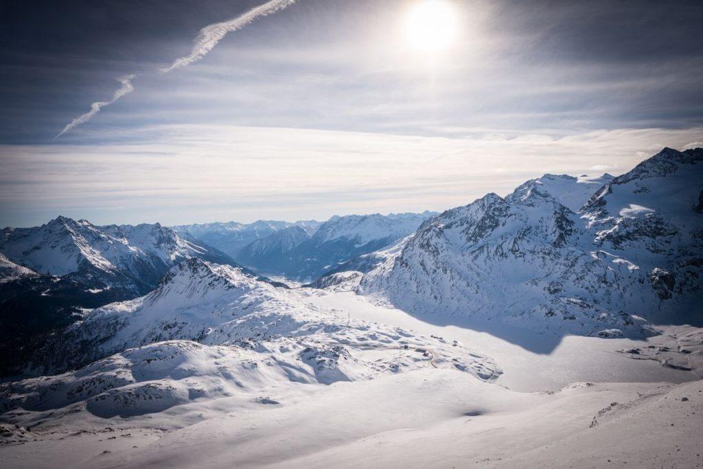 Aussicht von Lagalb auf Lago Bianco
