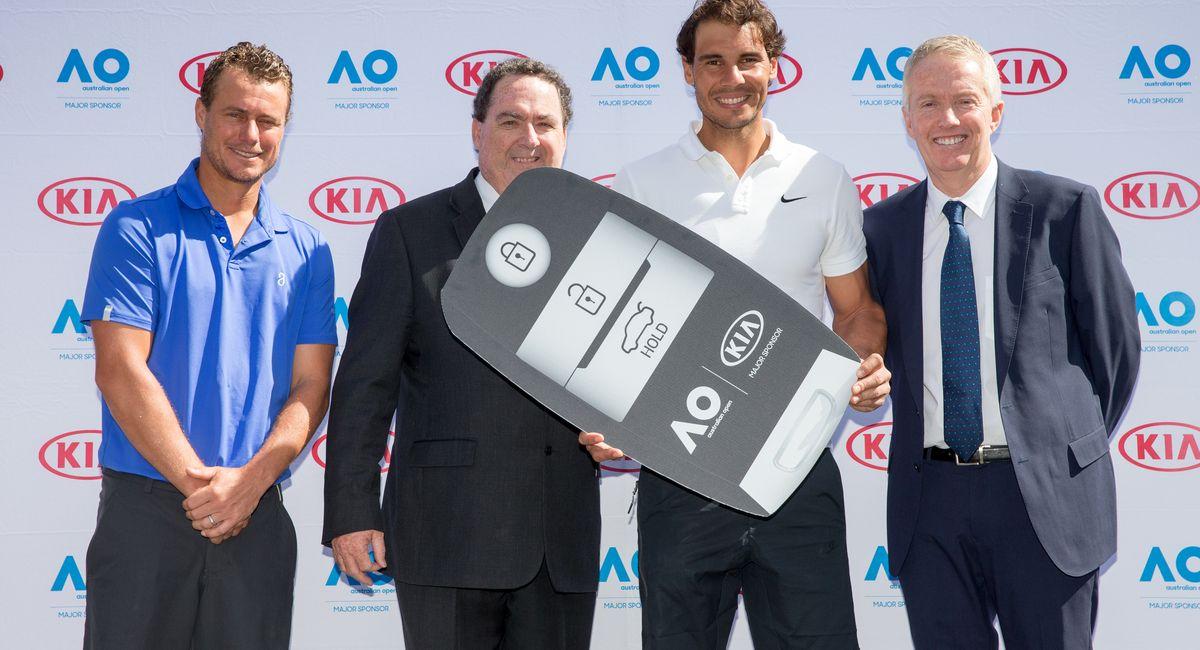 Lleyton Hewitt, Damien Meredith, Rafael Nadal, Craig Tiley