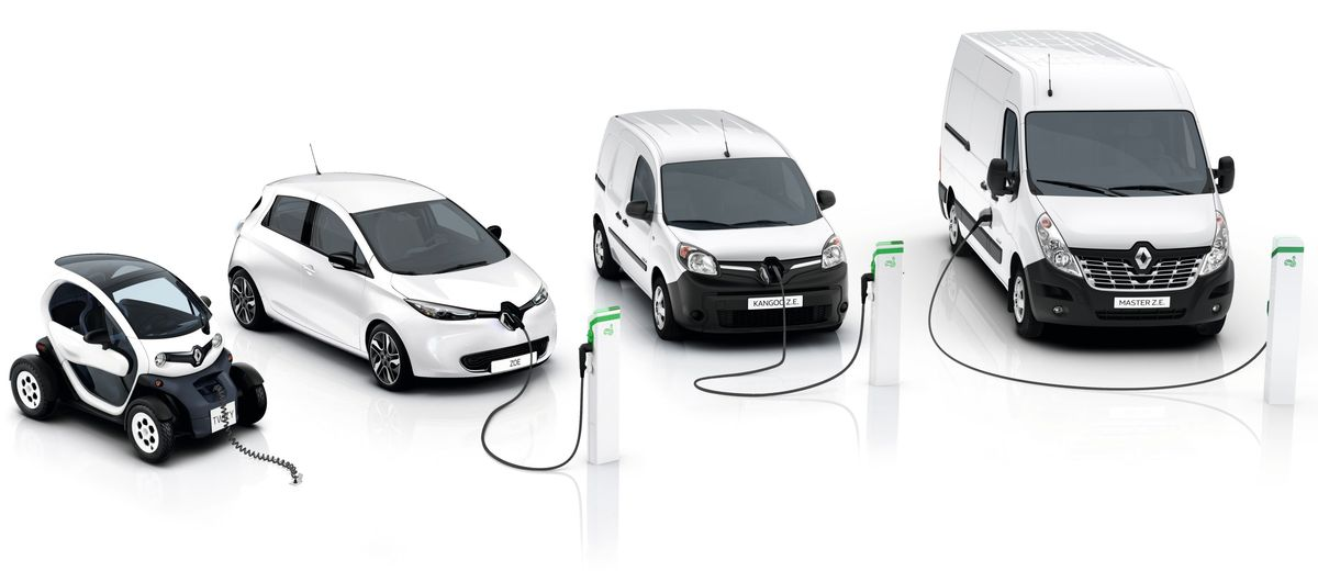 Renault Elektroautos: Twizy, Zoe, Kangoo Z.E. und Master Z.E..