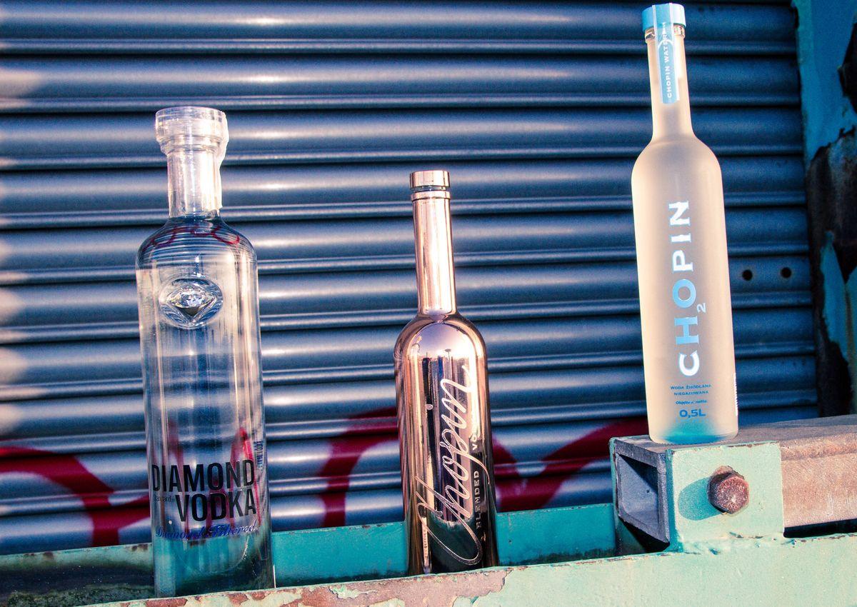 Diamond Standard Vodka, Chopin Blended Gold Edition Vodka, Chopin H2O