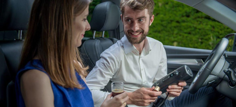 Espressomaschine im Auto