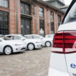 E-Golf stromert durch Hamburg