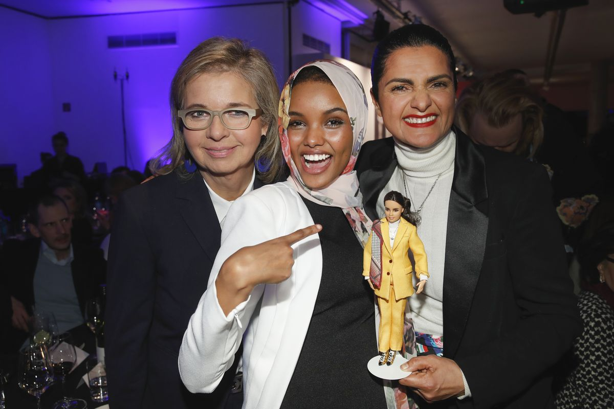 Inga Griese, Halima Aden, Leyla Piedayesh
