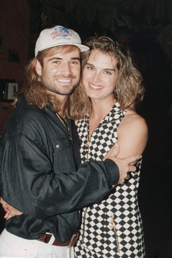 Brooke Shields und Andre Agassi