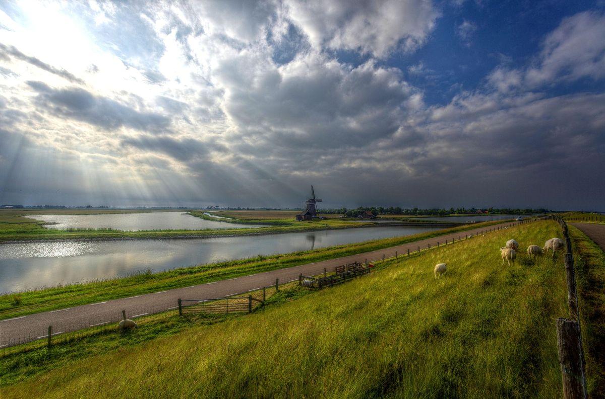 Entlang der niederländischen Nordseeküste