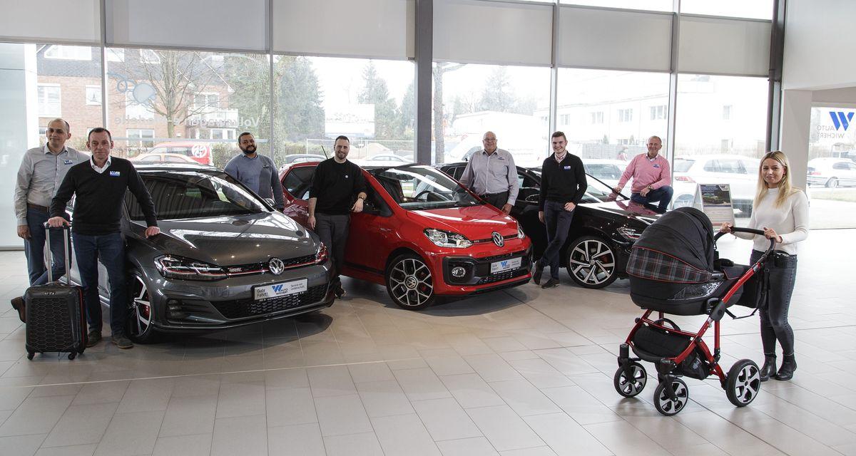 André Säger, Auto Wichert Verkaufsleiter für Neuwagen von Volkswagen, mit Team