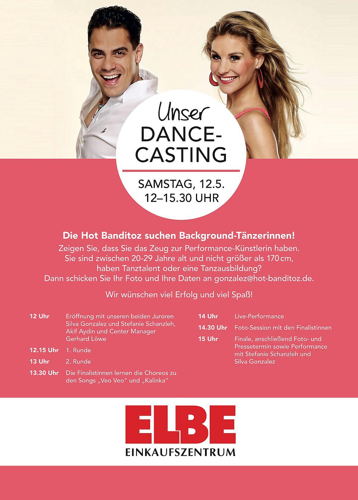 Dance-Casting der Hot Banditoz im Elbe-Einkaufszentrum