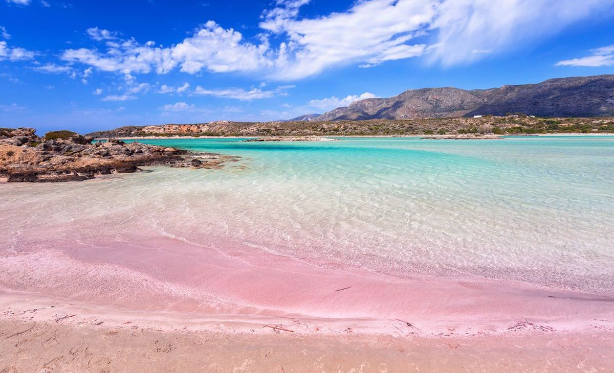Elafonissi Strand auf der griechischen Insel Kreta