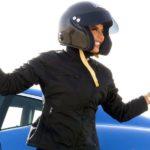 Saudische Rennfahrerin dreht Ehrenrunde
