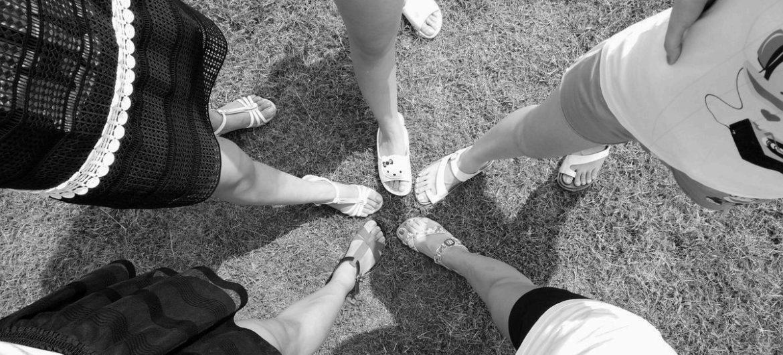 Schöne Füße im Fokus